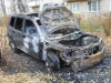 Nissan-X-Trail - сгоревший